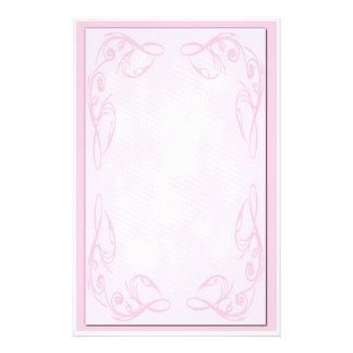 Pink Scroll Stationary Custom Stationery