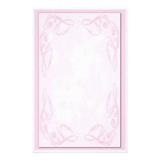 Pink Scroll Stationary Customized Stationery