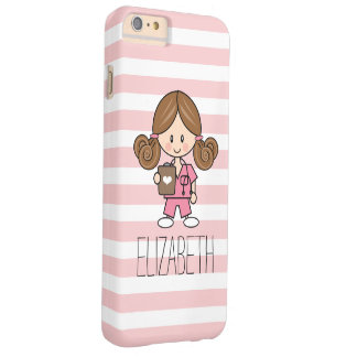 Pink Scrubs Nurse iPhone 6/6s Case Brunette