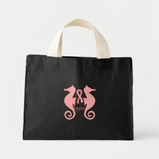Pink Sea Horses Mini Tote Bag