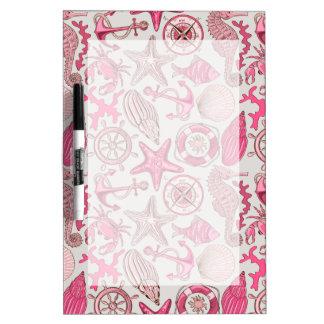 Pink Sea Pattern Dry Erase Boards