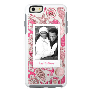 Pink Sea Pattern | Your Photo & Name OtterBox iPhone 6/6s Plus Case