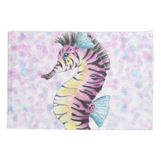 pink seahorse pillowcase