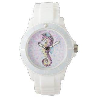 pink seahorse watch