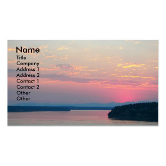 Pink Seascape Landscape Business Card
