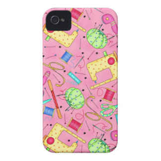 Pink Sewing Notions iPhone 4 Case