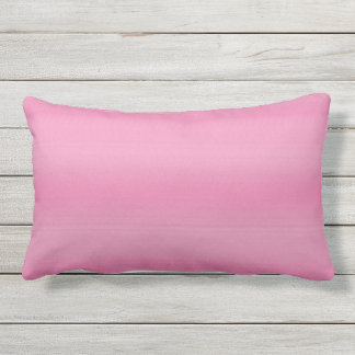 Pink Shade Fade Outdoor Lumbar Pillow