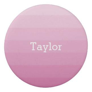 Pink Shades Horizontal Stripes Youthful Eraser