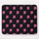 Pink Shamrock Mouse Pads