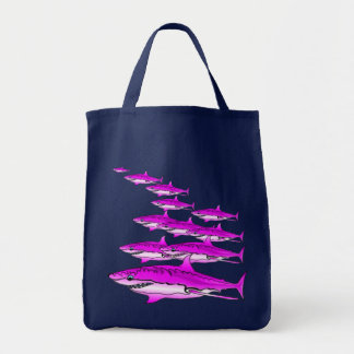 Pink Shark Shopping Tote