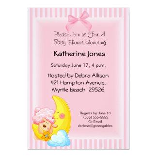 Pink Sheep Baby Shower Invitation