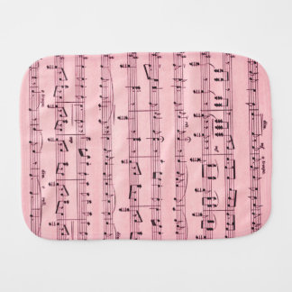 Pink  Sheet Music Burp Cloth