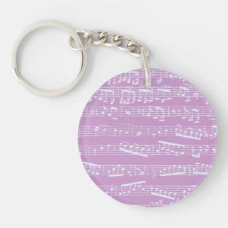 Pink Sheet Music Acrylic Key Chains