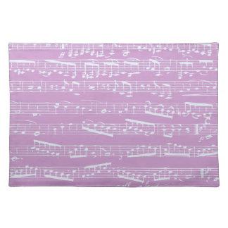 Pink Sheet Music Place Mats