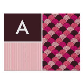 Pink Shells; Japanese Shell Design Print