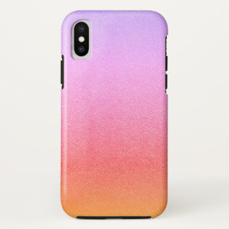 Pink Sherbet Glitter Sand Visual Texture Ombre iPhone X Case