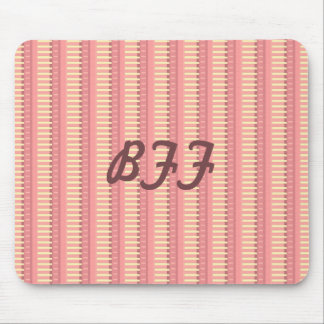 Pink Sherbet Stripes Coordinate Mouse Pad