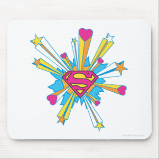 Pink Shield with hearts Mousepads