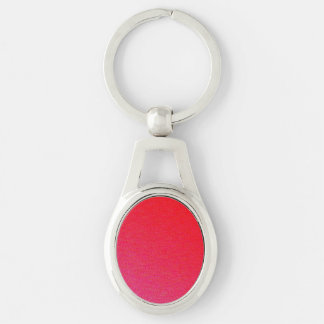 Pink Shimmer Silver-Colored Oval Key Ring