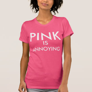 """Pink shirt """"pink is annoying"""" contradiction"""