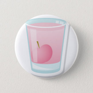 Pink shot with cherry 6 cm round badge