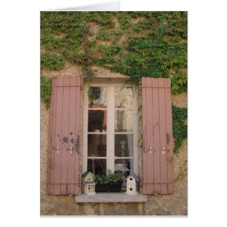 Pink Shuttered Window Card