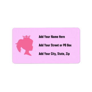 Pink Silhouette Princess T-shirts and Gifts Label