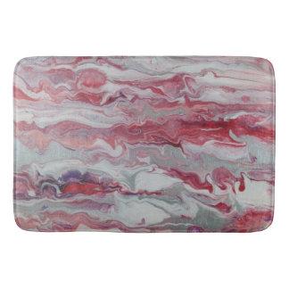 Pink & Silver Abstract Bath Mat