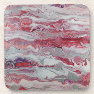 Pink & Silver Abstract Drink Coasters