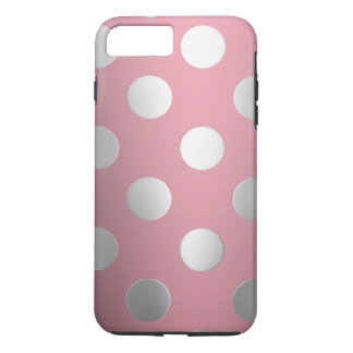 Pink, Silver Polka Dots iPhone 8 Plus/7 Plus Case