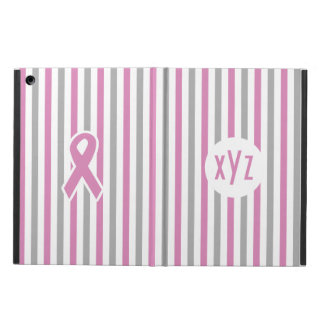 Pink & Silver Stripes custom cases Case For iPad Air