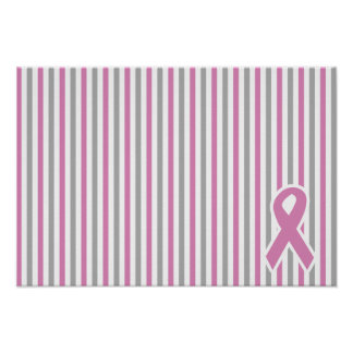 Pink & Silver Stripes custom poster