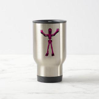 Pink Skeleton Travel Mug