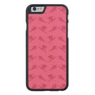 Pink ski pattern carved® maple iPhone 6 slim case