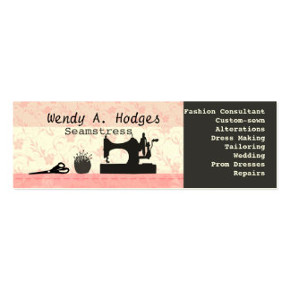 Pink Skinny Handmade Business Card Template
