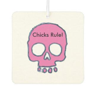 Pink Skull Add Name/Message Air Freshener