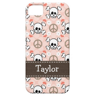 Pink Skull and Crossbones iPhone 5 Covers