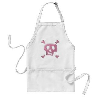 Pink Skull and Crossbones Standard Apron