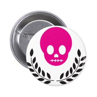 Pink Skull 6 Cm Round Badge