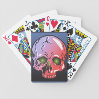 Pink skull bicycle playing cards