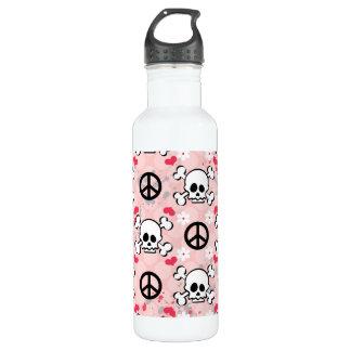 Pink Skull BPA Free 710 Ml Water Bottle