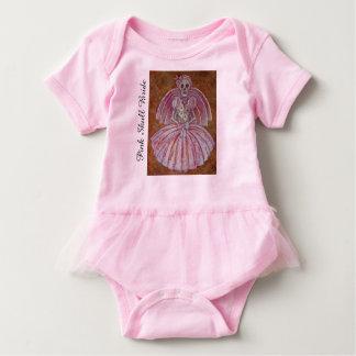 Pink Skull Bride Baby Bodysuit
