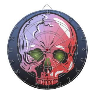 Pink skull dartboard