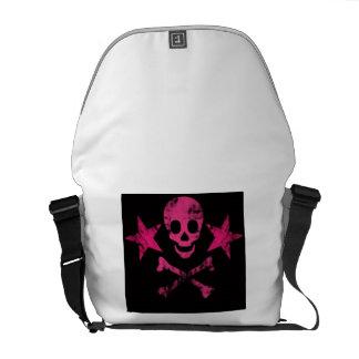 Pink Skull Messenger Bag