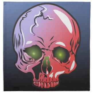 Pink skull napkin