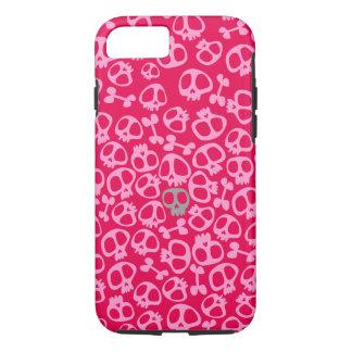 Pink Skull Phonecase sianelliot iPhone 7 Case