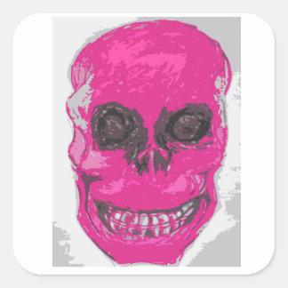 Pink skull, stickers