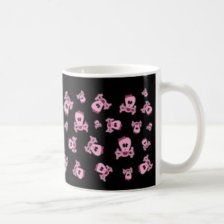 Pink Skull with Bow and Crossbones Mug