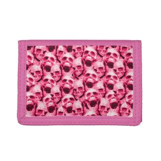 Pink Skulls Tri-fold Wallets