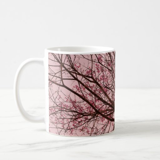 Pink Sky and Tree Branches Mug